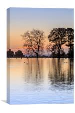 Golden Lake., Canvas Print