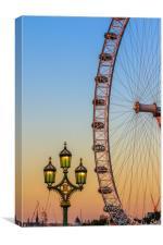 London Sunset , Canvas Print