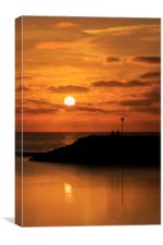 Sunrise  silhouette , Canvas Print