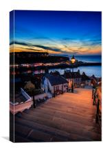 199 steps whitby , Canvas Print