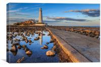 st marys lighthouse , Canvas Print