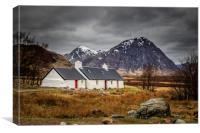 Black rock cottage  , Canvas Print