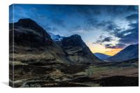 glencoe sunset  , Canvas Print