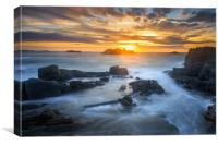 Sunset at Cobo , Canvas Print