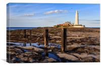 st marys lighthouse , Canvas Print
