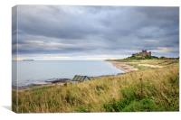 Bamburgh castle  , Canvas Print