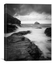Trebarwith strand            , Canvas Print
