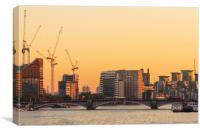 London at sunrise , Canvas Print