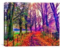 autumn leaves , Canvas Print
