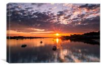 Estuary Sunset (Conway), Canvas Print