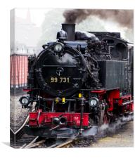 German DRG Class99.73–76 narrow gauge steam locomo, Canvas Print