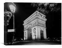 Arc de Triomphe PARIS, France , Canvas Print