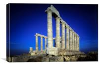 Posidons Temple, Cape Sounion,Attica ,Greece, Canvas Print