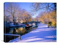 Basingstoke Canal in winter, Canvas Print