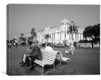 Promenade Des Anglais,Nice, France.( circa 1990 ), Canvas Print