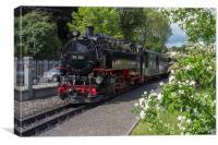 Steam train on the Zittau Railway,Saxony ,Germany., Canvas Print