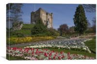 Guildford Castle Keep & Grounds ,Surrey England , Canvas Print