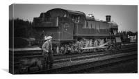 '5101' class 2-6-2T 'large prairie' locomotive ., Canvas Print