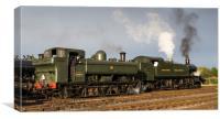 GWR pannier tank No 3650 4144 and large prairie lo, Canvas Print