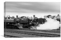 '5101' class 2-6-2T 'large prairie' locomotive  , Canvas Print