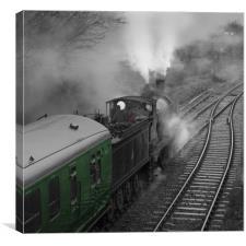Ex LSWR  Drummond T9 4-4-0 class locomotive number, Canvas Print