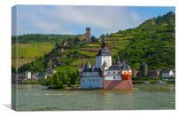 Pfalzgrafenstein Castle. near Kaub in the middle o, Canvas Print