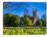 Springtime St Nicholas Church ,Chawton,Hampshire,E, Canvas Print