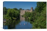 Warwick Castle & River Avon,,Warwick,Warwickshire,, Canvas Print