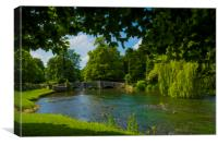 Ashford in the Water,Derbyshire,England., Canvas Print