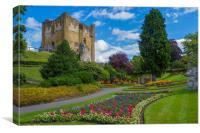 Guildford Castle Keep & Grounds ,Surrey England, Canvas Print
