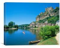 Beynac-et-cazenac, Dordogne, France., Canvas Print