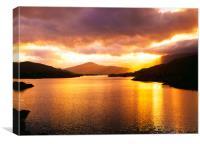 Sunset over Killarney Lake ,County Kerry Ireland , Canvas Print