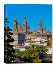 SANTIAGO DE COMPOSTELA,GALICIA,NORTHERN SPAIN , Canvas Print