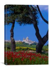 View to Mdina, Malta, Canvas Print