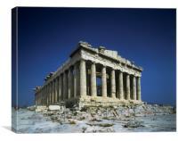 Athens,The Parthenon., Canvas Print