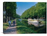 Canal De La Somme,Abbeville ,Picardy France, Canvas Print