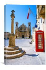 Village Square , Gharb GOZO - Maltese Islands , Canvas Print
