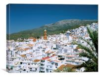 THE WHITE VILLAGE OF COMPETA ANDALUCIA SPAIN , Canvas Print