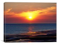 Cumbria Coast Sunset ,England , Canvas Print