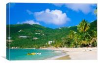 Cane Garden Bay ,Tortola BVI , Caribbean , Canvas Print