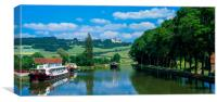 Burgundy Canal France, , Canvas Print