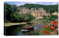 La Roque Gageac, Dordogne , France., Canvas Print