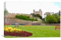 Rochester Castle on a Summer Day, Canvas Print