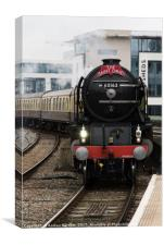60161 Tornado arrives in Cardiff, UK., Canvas Print