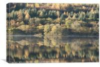 Llwyn-onn reservoir, South Wales, UK, during morni, Canvas Print