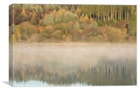 Llwyn-onn reservoir, South Wales, UK, during morn, Canvas Print