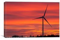 Rhigos Viewpoint, South Wales, UK, at sunset., Canvas Print