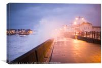 Porthcawl, South Wales, UK, during Storm Brian., Canvas Print