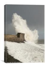 Porthcawl, South Wales, UK, during Storm Doris, Canvas Print