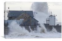 Stormy seas at Porthcawl, UK, Canvas Print
